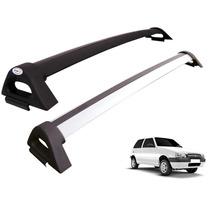 Rack De Teto Fiat Uno 2 Portas Bagageiro 100% Aluminio
