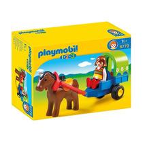 6779 Playmobil 1.2.3 Pônei Com Carroça