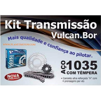 Kit Relação Transmissão Cg Fan Titan 125 Reforçada Mod Orig.