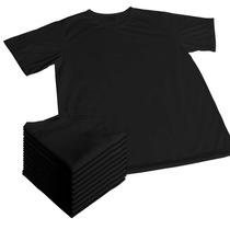 10 Camisas Preta/cor Sublimação Dry-fit 100% Poliester
