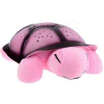 Luminária De Estrelas - Tartaruga Rosa Projetora De Estrelas