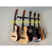 Suporte Parede 05 Instrumentos Violão Guitarra Contra Baixo