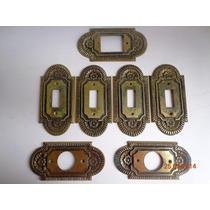 Lote De Espelhos Para Interruptores Vintage Em Bronze