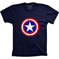 Camisetas Capitão America Camisa Super Herói Engraçada Banda