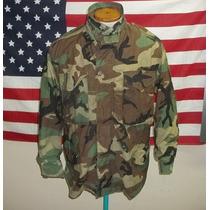 Jaqueta Militar M65 Americana Woodland Caçador Selva