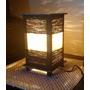 Abajur Luminária Artesanal Quadrada Em Chenile