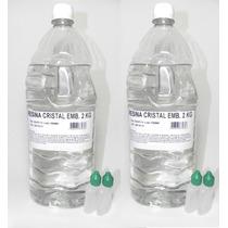 Resina Cristal Poliéster 4kg+ Catalisador - Molde Artesanato