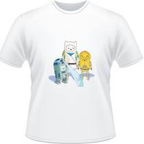 Camiseta Star Wars Hora De Aventura Finn Jake Camisa