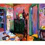 Arte Abstrata Sala De Jantar De Kandinsky Grande Tela Repro
