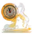 Leilão Relógio De Mesa Acrílico Forma Cavalo Laranja A4639