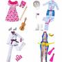 Coleção Com 4 Roupinhas E Acessórios Barbie Quero Ser Mattel
