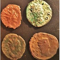 Lote 4 Moedas Antigas Antonianinus Império Romano Abaixou