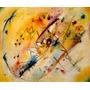 Arte Abstrata Quadro Claro Pintor Kandinsky Tela Repro