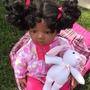 Leilão! Boneca Bebê Tipo Reborn Afro C/ Vários Acessórios