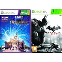 Kinect Disneyland Adventures + Batman Arkham City Xbox 360