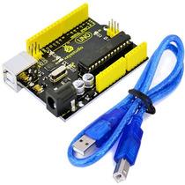 Arduino Uno R3 Da Keyestudio, Placa Com Atmega328 + Cabo Usb