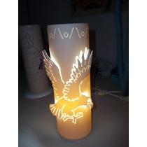 Luminária De Pvc Abajur Lustre Artesanal - Águia