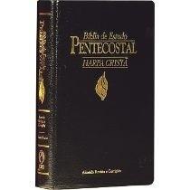 Bíblia De Estudo Pentecostal Média Com Harpa Preta