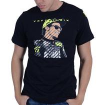 Camiseta Valentino Rossi Vr46 Cartoon Preto Gg(xl) Rs1