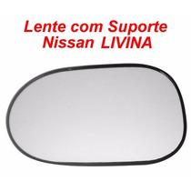 Espelho Lente Com Suporte Nissan Livina Esquerdo/direito