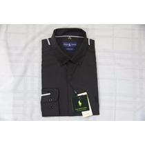 Camisa Social Masculina Polo Rauph Lauren, Core Preto.