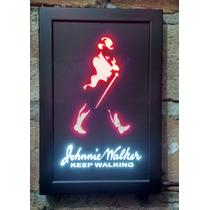 Placa Em Led De Mdf Johnnie Walker Whiske Vintage Decoração