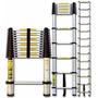 Escada Telescópica Em Alumínio 6 Degraus - 12x Sem Juros