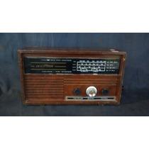 Radio Antigo De Madeira Nipon