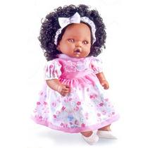 Boneca Angelina Negra 62 Frases Com Mamadeirra Mágica - Milk