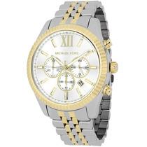 Relógio Michael Kors Mk8344 Prata Dourado Original Garantia