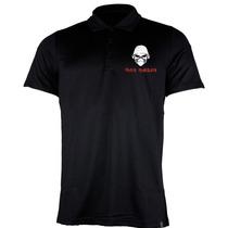Camiseta Polo Bordado Rock Iron Maiden