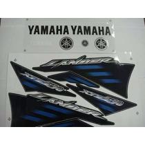 Jogo Adesivo Xtz 250 Lander 2007 Preta - Frete R$9,90