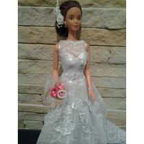 Vestido De Noiva Personalizado Para Barbie