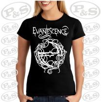 Camiseta Bandas Rock Evanescence Baby Look Feminina