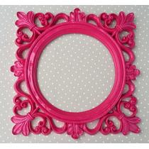 Espelho Decorativo Moldura Em Resina Pink Laqueado