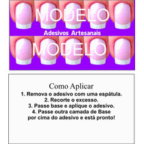 Cartão Para Adesivo De Unha Artesanal