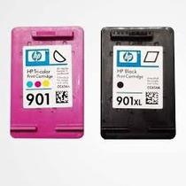 Kit 2com Cartuchos Sendo 1 Preto E 1 Color Hp 901 Frete Gra