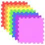 12 Tapetes Em Eva Decorativo Tatame Infantil Colorido 50x50