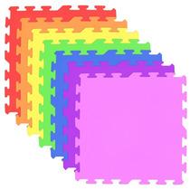 Tapete Placa Eva Tatame Infantil Colorido Bordas 50 X 50 X 1