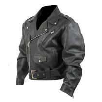 Jaqueta De Couro Legitimo Perfecto Motoqueiro Harley Grosso
