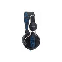 Fone De Ouvido C/ Microfone Dr.hank Ep-h322 Preto E Azul