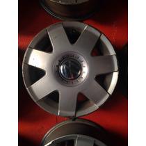 Roda 5x100 Original Vw Polo Fox A3 Bora 14 Com Calotas