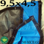 Super Lona 500 Micras 9,5x4,5 M Argolas Plástica Impermeável