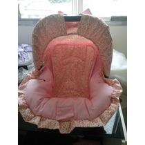 Capa Bebe Conforto Rosa Com Floral