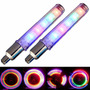 2 Bicos De Led Multi Cores 5 Leds Rgb - Bike Moto Carro Pneu