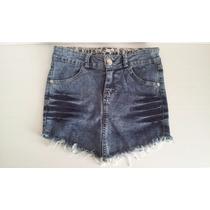 Short Jeans Desfiado Estonado Feminino Curto Customizado