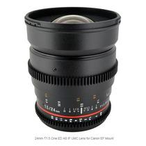 Lente Rokinon 24mm T1.5 Cine Ed As If Umc Pra Canon Ef Mount