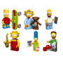 Kit Com 6 Bonecos Estilo Lego Simpsons Bart Homer Flanders
