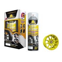 Emborrachamento Envelopamento Líquido Roda Carro Amarelo