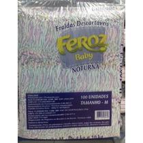 Fralda Descartável Feroz Noturna P, M, G, Eg Pacote C/ 100